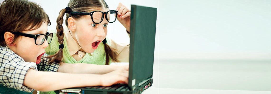 Kids-laptop-surpirsed