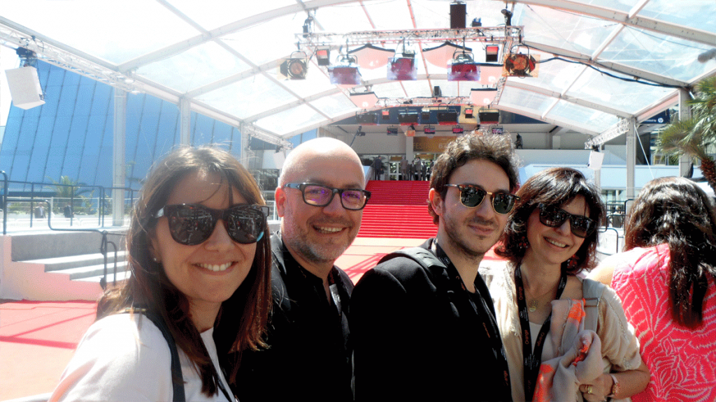 L'équipe d'Under My Screen au festival de Cannes 2014