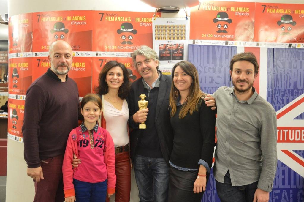 Stephen Bradley récompensé lors du festival du film anglais et irlandais d'ajaccio