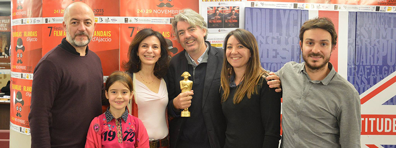 Stephen Bradley récompensé lors du 7e festival du film anglais et irlandais d'ajaccio